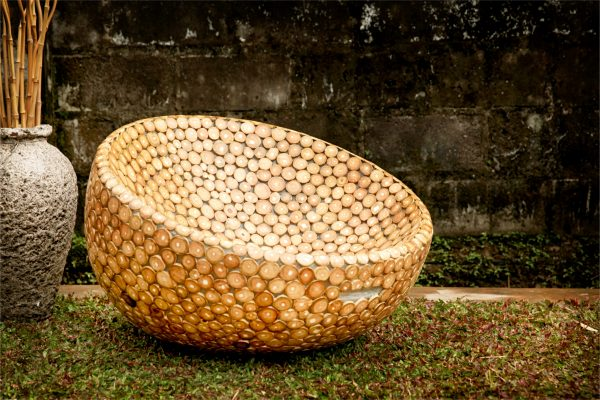 Collection Fiberglass Teak Rocking Puff