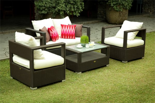 Collection Synthetic Rattan Adele Living Set Black