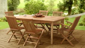 Collection Wooden Classic Folding Dining Set