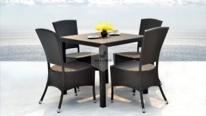 Synthetic Rattan Furniture Kenanga Dining Set