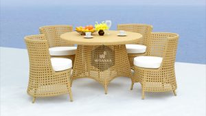 Synthetic Rattan Furniture Mijo Dining Set