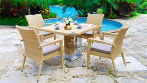 Synthetic Rattan Furniture Pasadena Dining Set