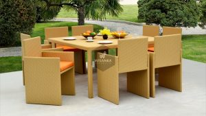 Synthetic Rattan Furniture Tarakan Dining Set