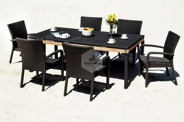 Synthetic Rattan Furniture Valerie Dining Set