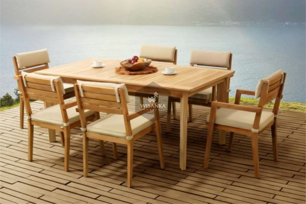 Beautiful Kansas Outdoor Teak Dining Set Furniture