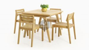 Teak Wood Furniture | Wooden Denver Dining Set Collection