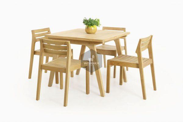 Teak Wood Furniture | Wooden Denver Dining Set Collection