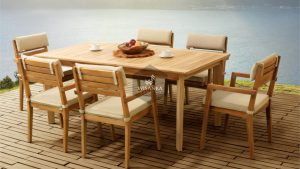 Teak Patio Furniture Excellence Wooden Kansas Dining Set Collection