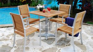 Collection Alloy Casting Charles Dining Arm Set