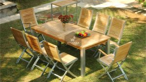 Collection Alloy Casting Marrina Dining Set Folding