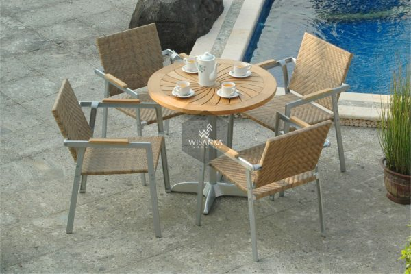 Collection Alloy Casting Phoenix Synthetic Dining Arm Set