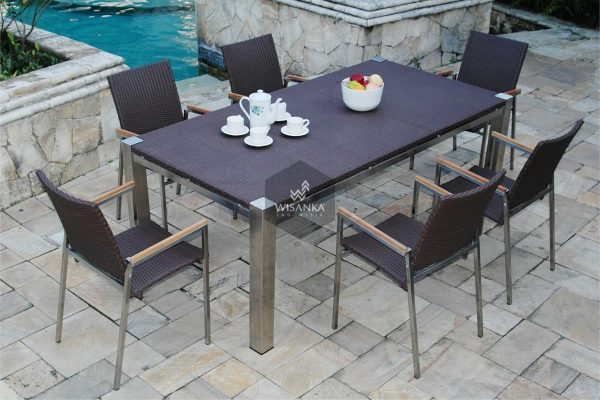 Collection Stainless Steel Maddison Dining Set