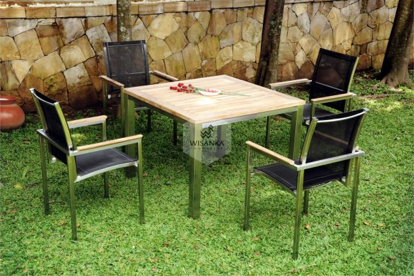 Collection Stainless Steel Milano Dining Set