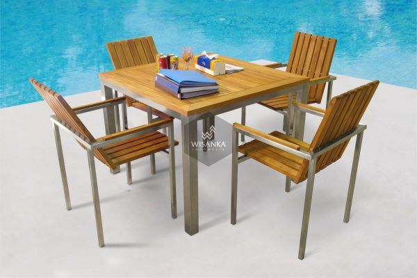 Collection Stainless Steel New Texas Dining Set