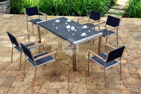 Collection Stainless Steel Sevilla Dining Set