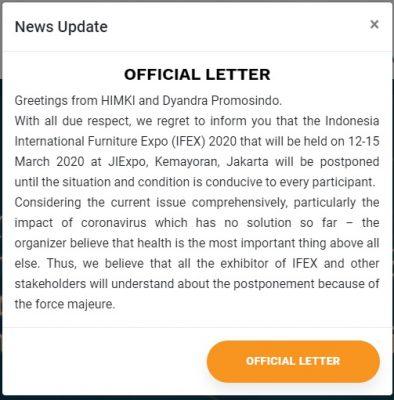 Corona Virus Caused IFEX 2020 To Be Postponed