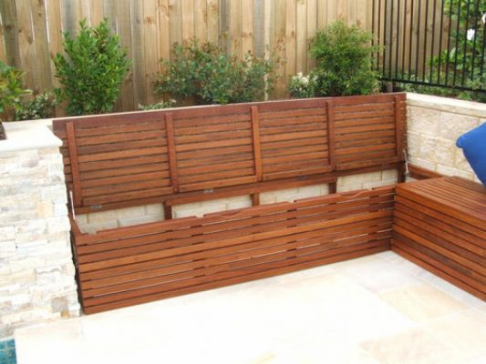 Outdoor Storage Bench Seat Design