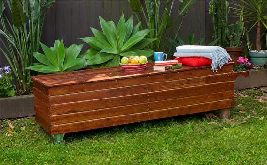 Outdoor Storage Bench Seat Design