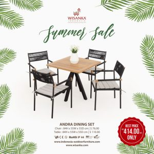 Andra Outdoor Dining Set Promo Indonesia Outdoor 2020