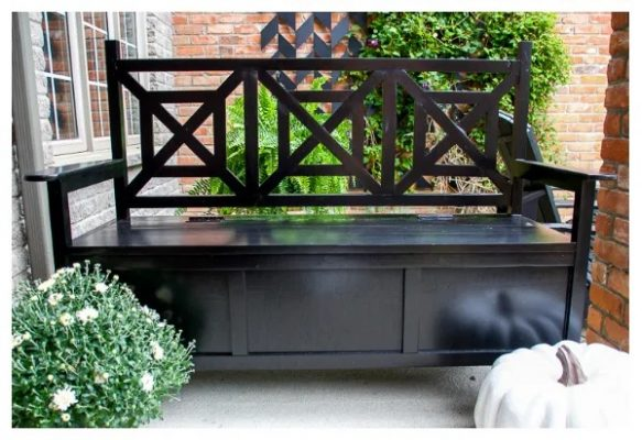 Outdoor Storage Bench, One Furnishing With Dual Functions